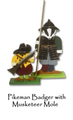 Pikeman Badger with Musketeer Mole - price on application