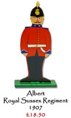 Albert, Royal Sussex Regiment 1907 - £18.50