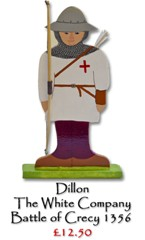 Dillon, The White Company, Battle of Crecy